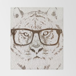 The Hipster Tiger Throw Blanket