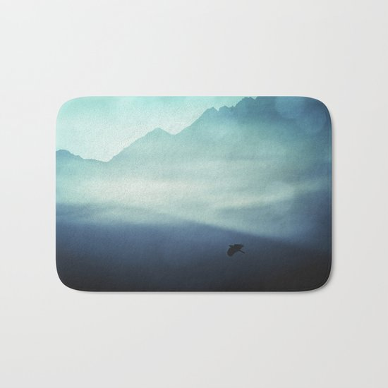 Vanishing Mountains Bath Mat