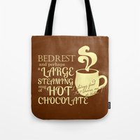 dumbledore Tote Bags featuring Cheered by Chocolate Albus Dumbledore by PieTowel