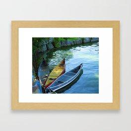 Canoe Tulip Framed Art Print