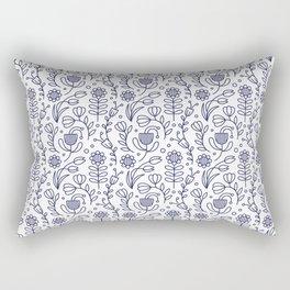 Flower medallion Rectangular Pillow