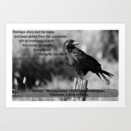 Morning Raven   Pamala Ballingham Art Print