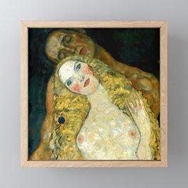 """Gustav Klimt """"Adam and Eve"""" Framed Mini Art Print"""