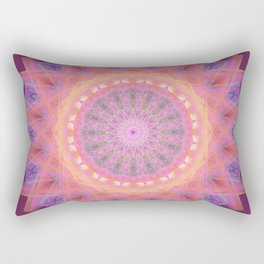 Pink and Purple Flower Mandala Rectangular Pillow