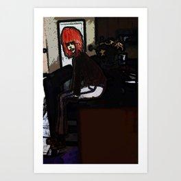 Lola sits Art Print