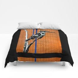 Ugandan Pied King Fisher Comforters