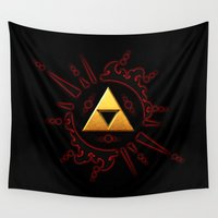 the legend of zelda Wall Tapestries featuring The Legend Of Zelda  by DavinciArt