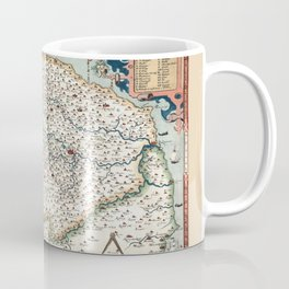Map Of Norfolk 1574 Coffee Mug