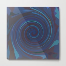 VERTIGO DEEP BLUE Metal Print