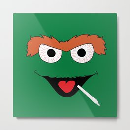 Ganja Grouch Metal Print