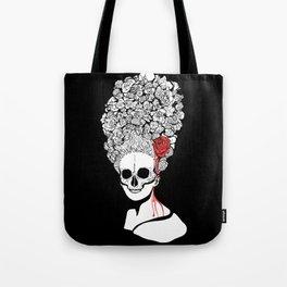 Skull and flower Tote Bag