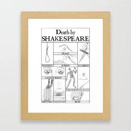 Death by Shakespeare Framed Art Print