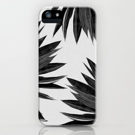 Agave Cactus Black & White iPhone Case