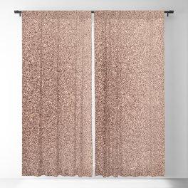Modern Blush Pink Rose Gold Bronze Faux Glitter Blackout Curtain