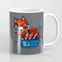 mew Mugs featuring Doctor Mew by harebrained