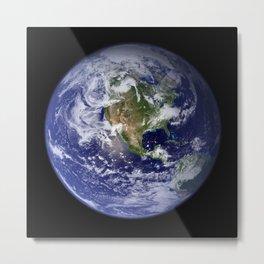 Earth in Miniature Metal Print