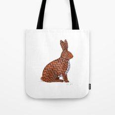 zig zag rabbit Tote Bag