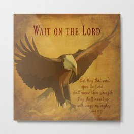 With Wings as Eagles Bible Verse Metal Print