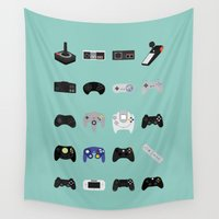 luigi Wall Tapestries featuring Console Evolution by Dorothy Leigh