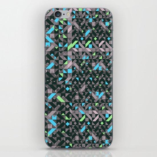 GEOMETRIC GREYS AND BLUES  iPhone & iPod Skin