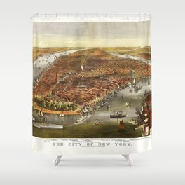 The City of New York (1870) Shower Curtain
