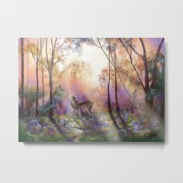 The Golden Hour at Swinley Forest Metal Print