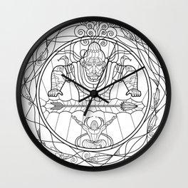 Arjuna & Shiva BnW Wall Clock