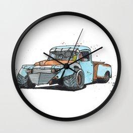 Monster rat-rod truck Wall Clock