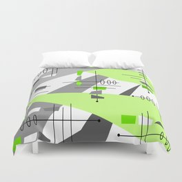 Mid-Century Modern Atomic Age Abstract Duvet Cover