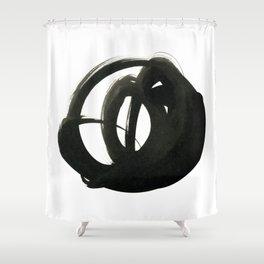 black ink marks 3 Shower Curtain