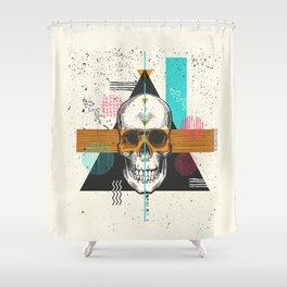 Skull Geometry #2 Shower Curtain