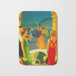 Vintage Sydney Australia Travel Bath Mat