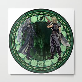 Final Fantasy VII Stained Glass Drawing  Metal Print