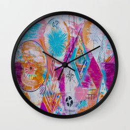 The Perfect Mystery Abstract Geometry Acrylic Painting Wall Clock