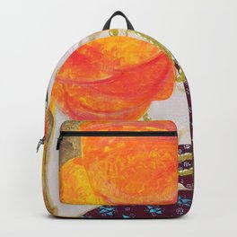Pregnant red head young woman with jewels Backpack