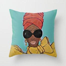 Super Bad Sistah Throw Pillow