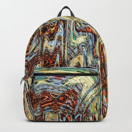 Scramble - Digital Abstract Expressionism Backpack