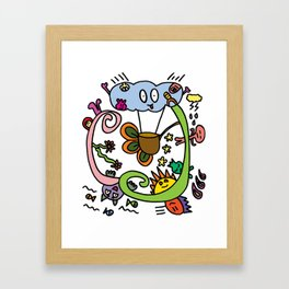 Sky Doodles  Framed Art Print