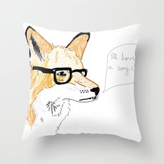Coffee Shot Stereotypes Throw Pillow