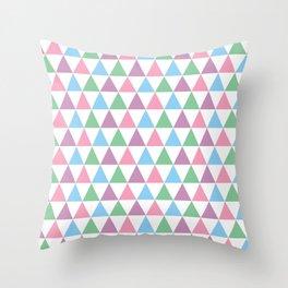 Pastel Retro Triangle Pattern Throw Pillow