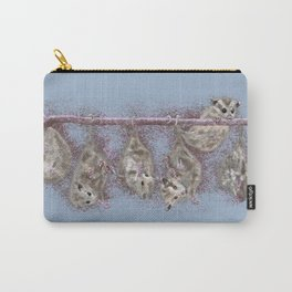 Possum Family - Blue Grey Carry-All Pouch