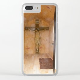 Jesus Crucified Clear iPhone Case