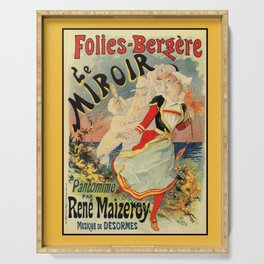 French belle epoque mime theatre advertising Serving Tray
