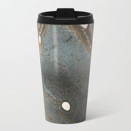 Abstract map blue and black ink drawing Travel Mug