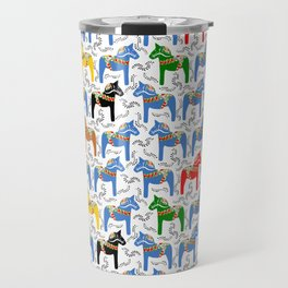 Dala Horse pattern Travel Mug