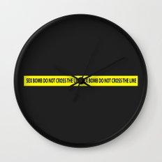 SEX BOMB do not cross the line Wall Clock