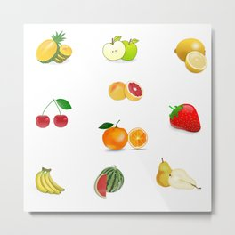 Mixed Fuit - Graphic designs Metal Print