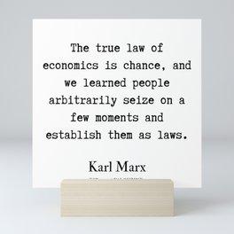 44 | Karl Marx Quotes | 190817 Mini Art Print