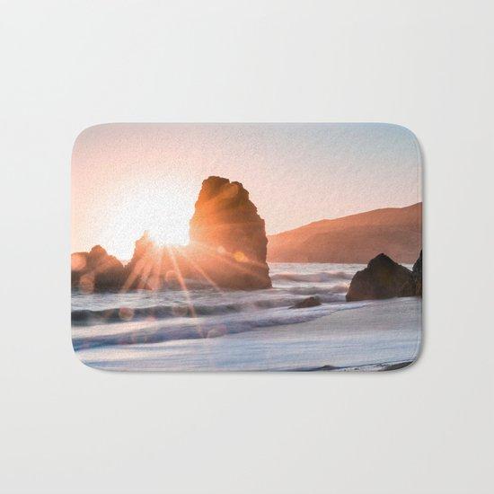 Sea light rock 4 Bath Mat