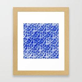 Vintage Floral Lace Leaf Sapphire Blue Framed Art Print